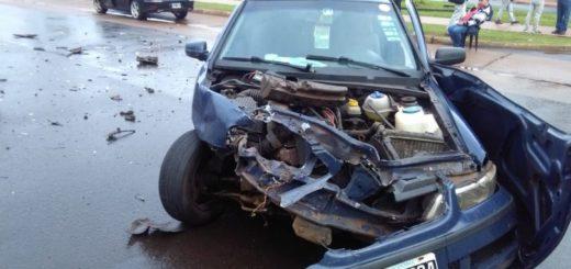 Impactante accidente de tránsito en Posadas dejó sólo daños materiales