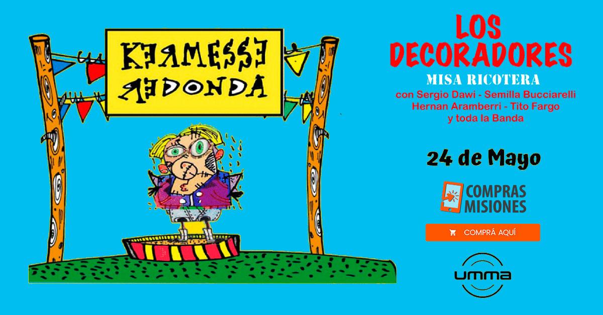 Los músicos de Los Redondos presentarán Kermesse Redonda en Posadas…Ingresá aquí y adquirí las entradas por Internet