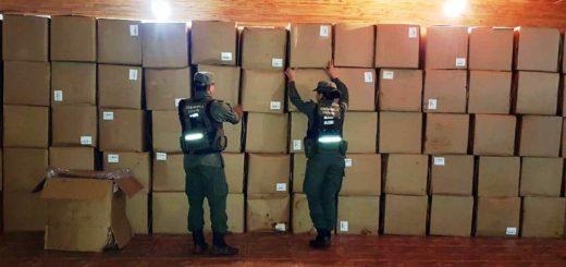 Gendarmería incautó más de 12 toneladas de tabaco y 150.000 atados de cigarrillos de contrabando en distintos operativos realizados en Misiones