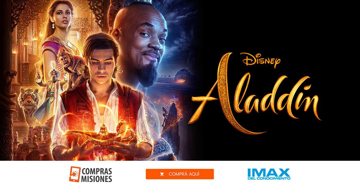 Desde hoy Aladdin está en la pantalla del IMAX del Conocimiento…Ingresá aquí y adquirí las entradas por Internet