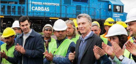"""Macri: """"Donde haya carga y trabajo, el ferrocarril va a llegar"""""""