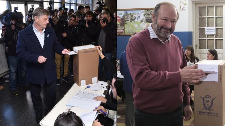 Votaron los candidatos a gobernador en La Pampa y opinaron sobre la fórmula Fernández-Kirchner