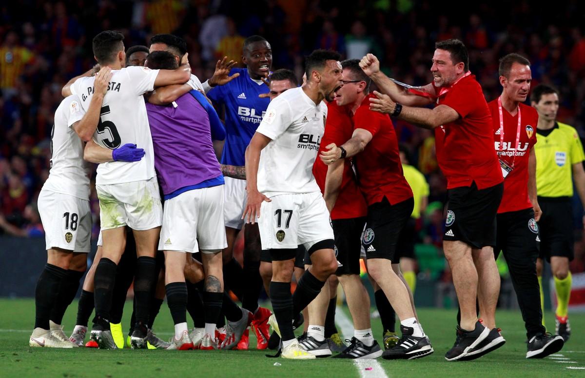 Valencia dio el golpe en España: superó al Barcelona y es el campeón de la Copa del Rey