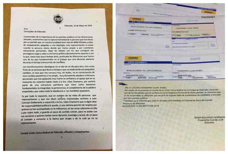 Eldorado: la UCR suspendió la afiliación de Lilian Chamorro y solicitó su banca de concejal