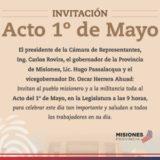 """#Acto1DeMayoMisiones:""""En Misiones hay un proyecto provincial y la gente se siente cómoda"""", aseguró el senador Maurice Closs sobre las políticas económicas"""