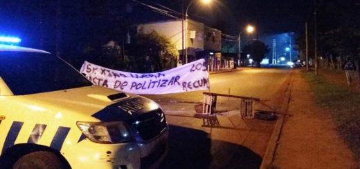 Continúa el corte sobre la avenida Cabo de Hornos en Posadas
