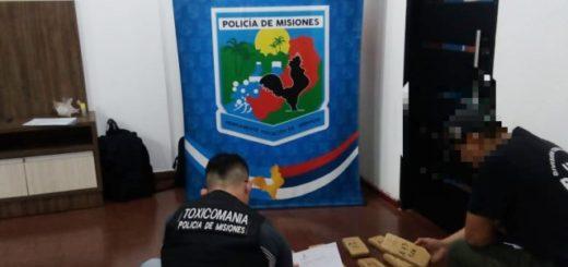 La Policía de Misiones incautó 16 panes de marihuana a orillas del Río Paraná