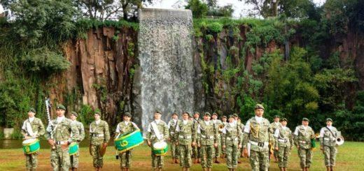 El Ejército celebró su aniversario N° 209 con actividades en la Cascada de la Costanera de Posadas