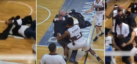 Encuentro de básquet finaliza con golpes e insultos entre cuerpo técnico