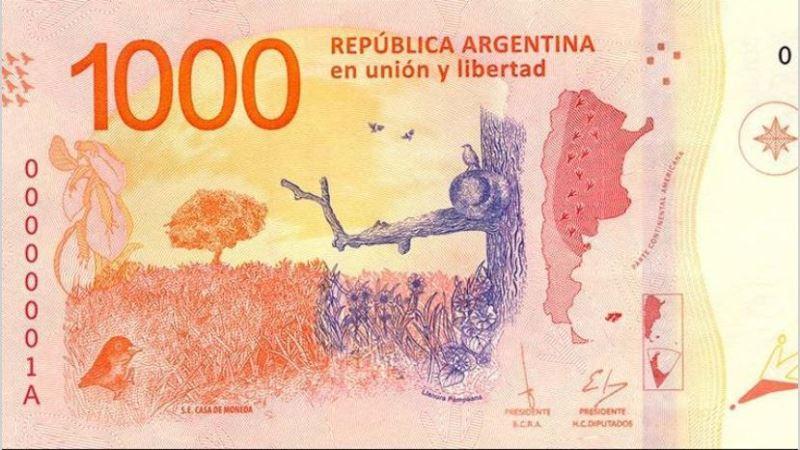 Circulación en la Argentina: faltan billetes de mil pesos en la calle y en cambio, abundan los de cien