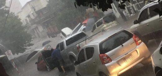 Inundación y caos en Asunción