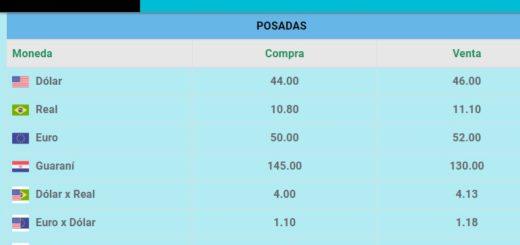 El dólar se vende a 46 pesos en Posadas y sin modificaciones desde ayer