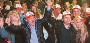 Contundente y multitudinario acto de apoyo a la reelección de Gaspar Dudek