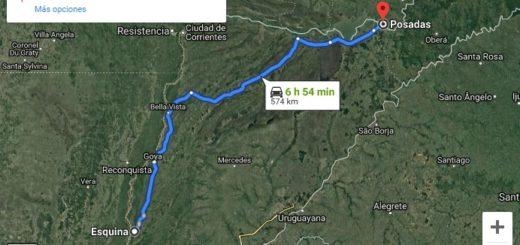 Está cortada la ruta 12 a la altura de Itatí, y hay desvíos para quienes viajen de Posadas a Corrientes o viceversa