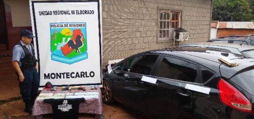 Importante operativo policial en Montecarlo finalizó con la detención de cuatro peligrosos delincuentes armados