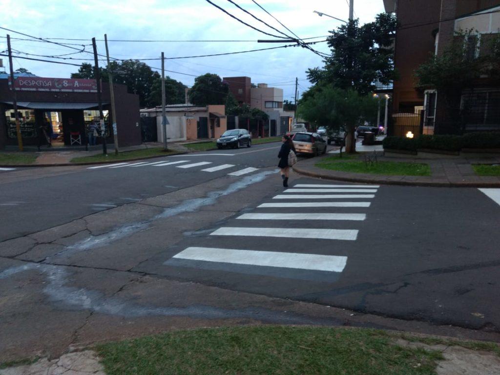 Stelatto supervisó mejoras en la señalización vial de la escuela Pedro Goyena de Posadas