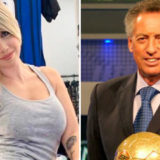 Video: una periodista sufrió un brutal pelotazo al aire en la semifinal de la Europa League