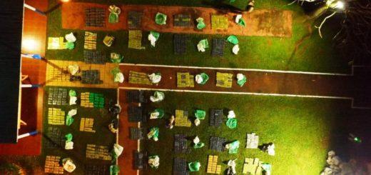 Prefectura incautó un cargamento de marihuana valuado en más de 50 millones de pesos en Puerto Iguazú