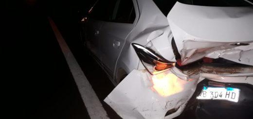 Accidente en el acceso sur de Posadas dejó importantes daños materiales