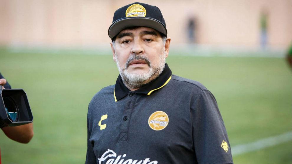 Por cuestiones de salud, Diego Maradona dejó de ser el entrenador de Dorados