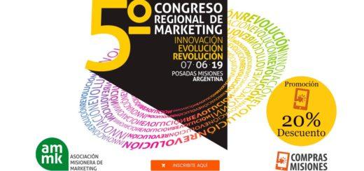 Mañana se realizará el 5° Congreso Regional de Marketing...Ingresá aquí e inscribite por Internet con el 20% de descuento