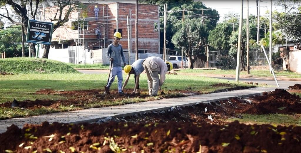 Presupuesto Participativo en Posadas: comenzaron las obras de mejoramiento de la plaza del barrio Malvinas