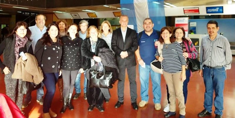 Arce despidió a afiliados que viajan a Calafate
