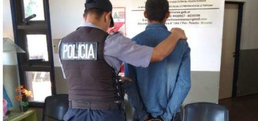 Posadas: agredió a su familia, con un revólver se escondió de la Policía bajo una frazada y fue detenido