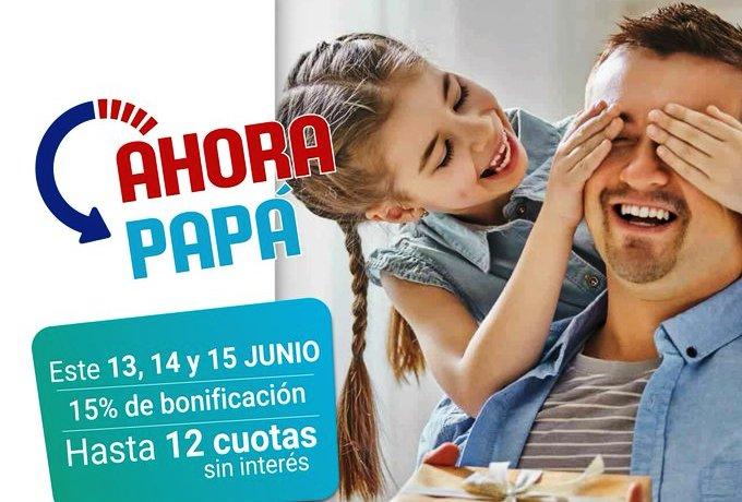 Desde hoy y hasta el sábado rige el programa de descuentos y facilidades de pago #AhoraPapá
