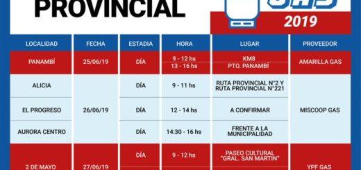 El camión del programa #AhoraGas estará esta semana en Panambí, Colonia Alicia, El progreso, Colonia Aurora, Dos de Mayo y Pozo Azul
