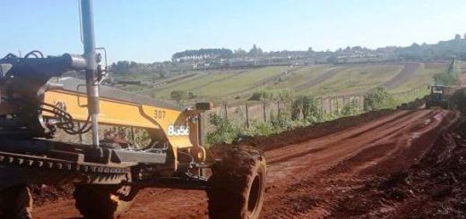 El municipio arregla calles en el barrio Giovinazzo de Posadas