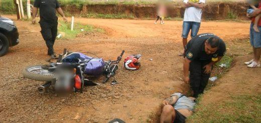 Un motociclista alcoholizado despistó en el barrio Miguel Lanús de Posadas