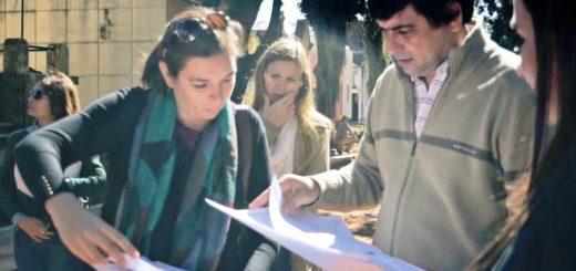 Losada recorrió las obras de mejoramiento del Cementerio La Piedad de Posadas