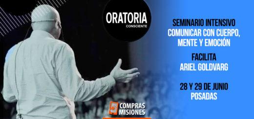 Ariel Goldvarg dictará un seminario de oratoria consciente en Posadas, necesario para comunicarse de manera efectiva…Inscribite aquí por Internet