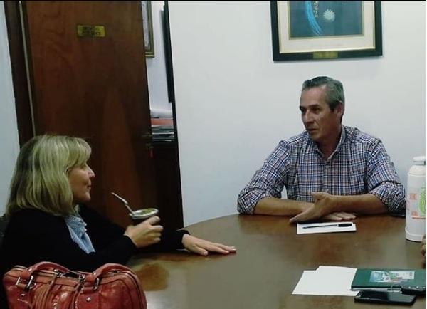Apóstoles: María Eugenia Safrán y Mario Vialey compartieron un cordial encuentro en el marco del proceso de transición de la intendencia