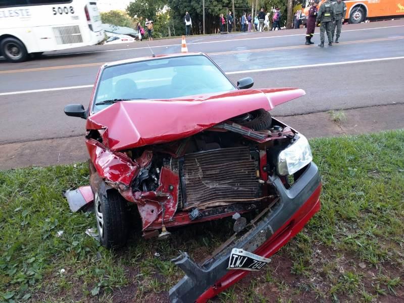 Puerto Iguazú: dos autos colisionaron en la Ruta Nacional 12