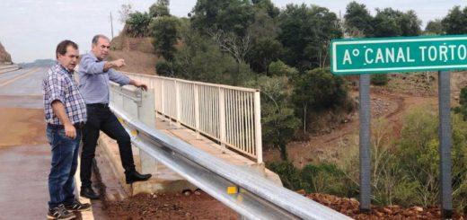 Vialidad Provincial habilitó en el nuevo puente sobre el arroyo Canal Torto