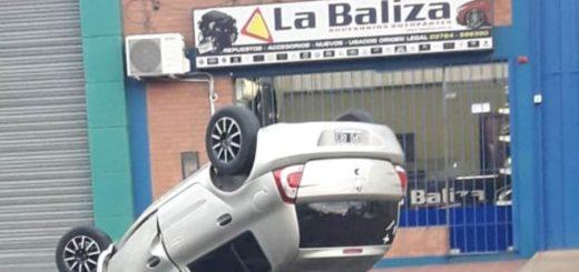Cadete del servicio penitenciario conducía con 2,62° de alcohol en sangre y volcó esta mañana sobre la avenida Uruguay