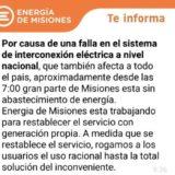Una falla en la Estación Transformadora de San Isidro, en Posadas, dejó anoche a media provincia sin luz