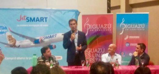 """Iguazú es la ruta número 14 que realiza Jet Smart en el país"", afirmó Gonzalo Pérez Corral"