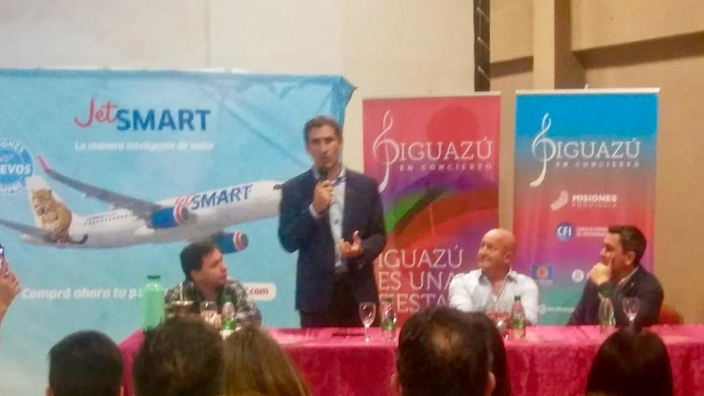 «Iguazú es la ruta número 14 que realiza Jet Smart en el país», afirmó Gonzalo Pérez Corral