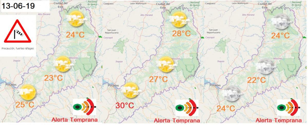 Jueves a pleno sol en Misiones: hoy la sensación térmica podría llegar a los 33 grados