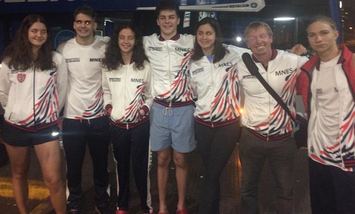 Natación: juveniles y Juniors del club Capri compiten en el Nacional de Santiago del Estero
