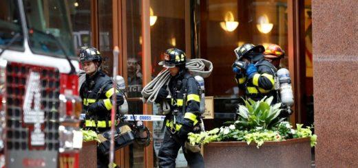 Nueva York: así quedó el helicóptero que chocó contra un edificio