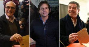 Daniel Martínez, Luis Lacalle Pou y Ernesto Talvi serán los candidatos en las elecciones presidenciales de Uruguay