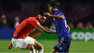 Chile le ganó 4 a 0 a Japón en su estreno en la Copa América