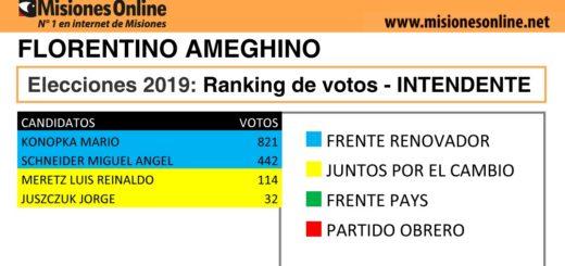 Elecciones2019: vea cómo quedó el ranking de candidatos a intendente de Florentino Ameghino