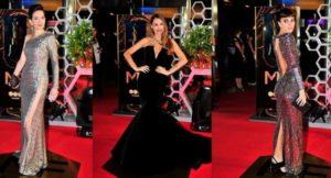 Martín Fierro 2019: negro y transparencias en los impactantes estilos de las anfitrionas de la alfombra roja