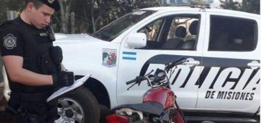 Bernardo de Irigoyen: la Policía recuperó una moto robada