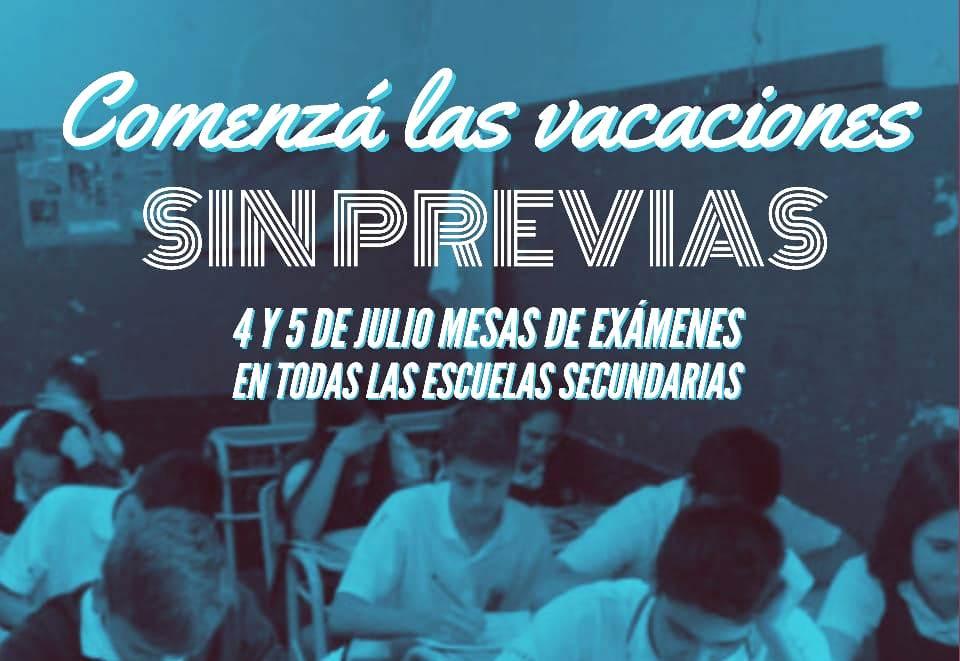 El 4 y 5 de julio se tomarán exámenes en los colegios secundarios de de gestión estatal como privada